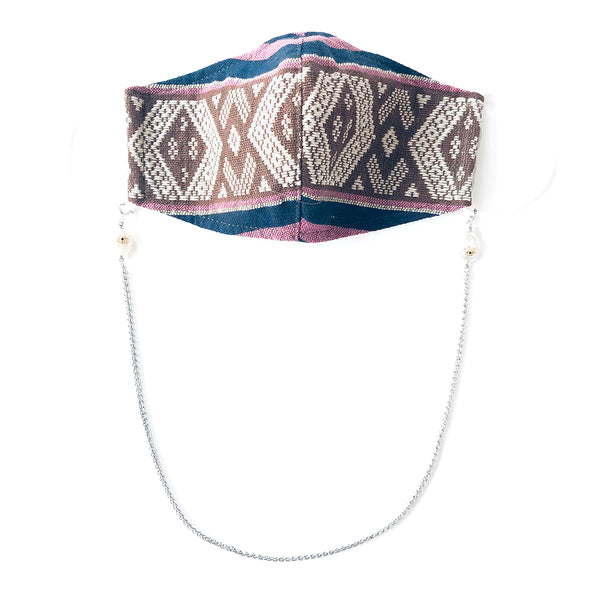 H'MONG Embroidered Striped Face Mask