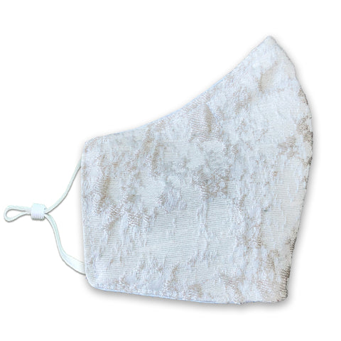 INDU Embroidered Marble Face Mask