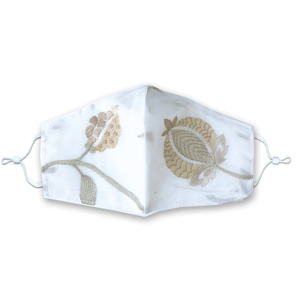 INDU Embroidered Lotus Face Mask