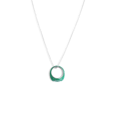 LARA Pave Eye Ring Necklace