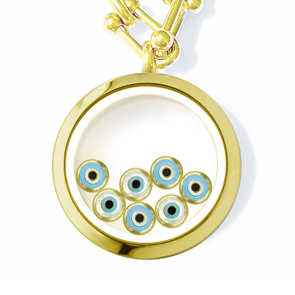 MATA-MATA Floating Evil Eye Charms Necklace
