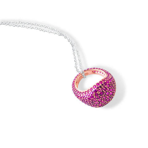 MIRELLE Pave Ring Necklace