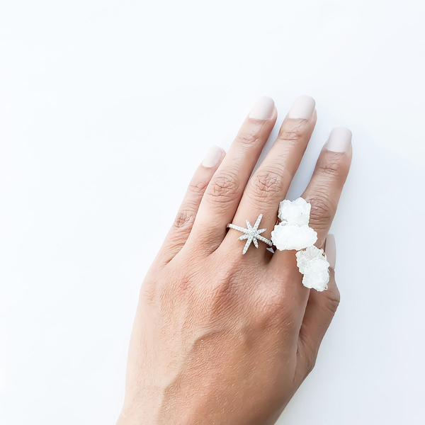 THALATA DRUZY QUARTZ RING