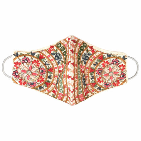 PRIYA Embroidered Flowers Garden Face Mask