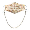 PRIYA Embroidered Fans Embellished Face Mask