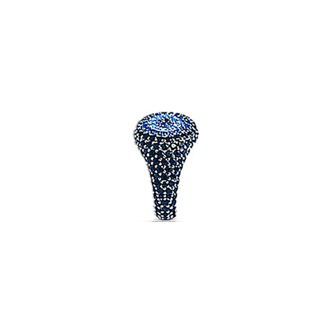 REEMA Black Evil Eye Pave Pinky Ring