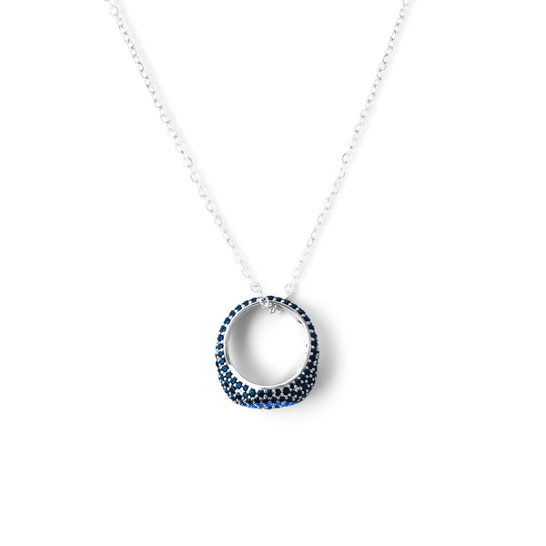 REEMA Pave Eye Ring Necklace