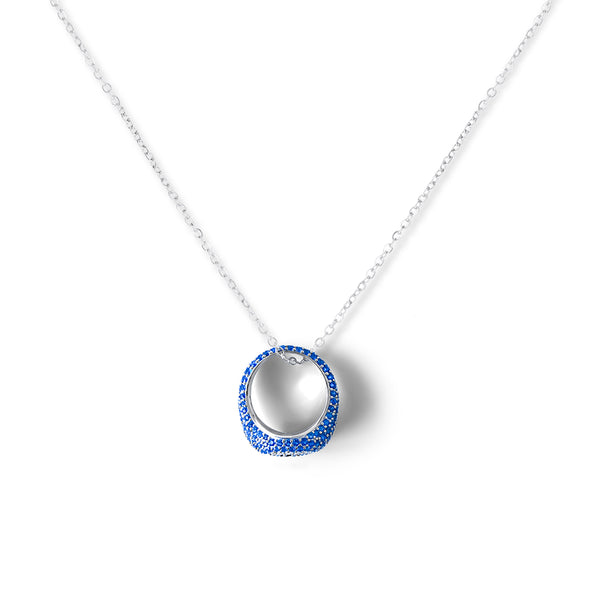 ZOFIA Pave Eye Ring Necklace