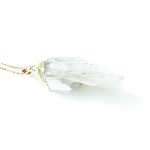 SHIVA Crystal Cluster Quartz Necklace