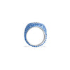 ZOFIA Evil Eye Blue Pave Pinky Ring