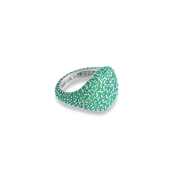 AMOURY Green Pave Pinky Ring