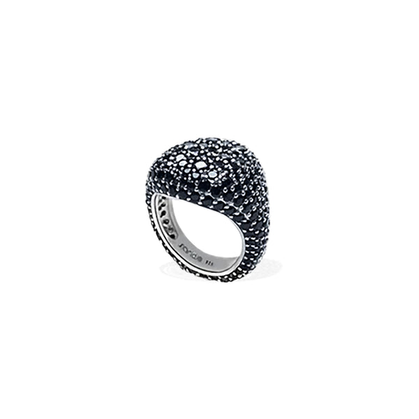 KIRAN Black Pave Pinky Ring