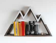 Snowy Peaks Mountain Shelf / Wall Hanging Art (LARGE)