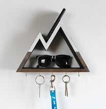 Snowy Peaks Mountain Key Rack and Entryway Organizer 3 Inch Shelf