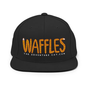 Snapback Hat - Waffles the Adventure Cat Logo