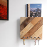 Mail organizer / Key rack Entryway storage - Diagonal Pattern