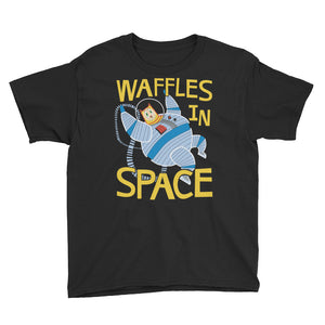 Youth Waffles in Space T-Shirt