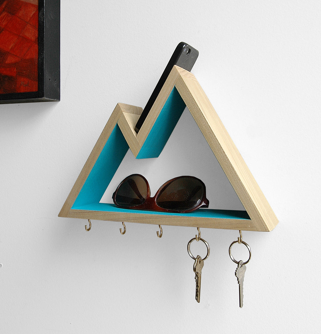 Mountain Key Rack and Entryway Organizer