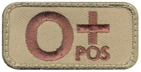 O Positive blood type tan patch