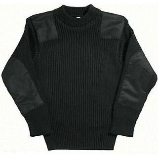 ACRYLIC COMMANDO SWEATER BLACK