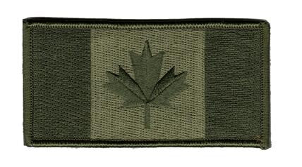 Green Canadian flag small patch