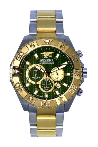 US COMMANDO II TWO TONE GREEN METAL