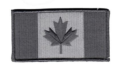 Grey Canadian flag small patch
