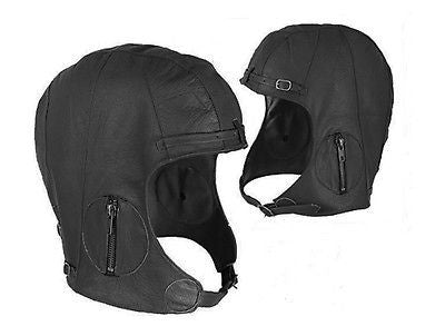 LEATHER PILOT HELMET M/L