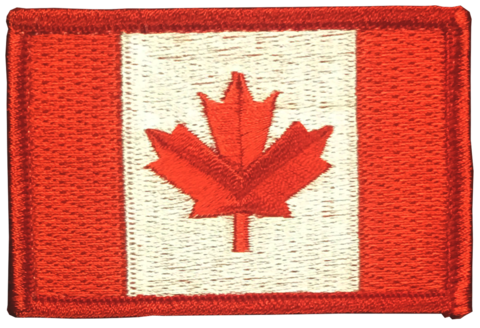 Red Canadian flag large patch