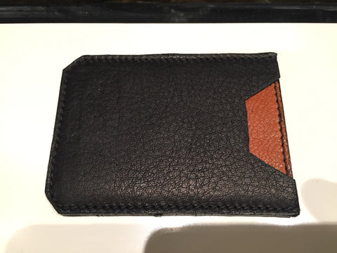 DOUBLE SIDED SINGLE CARDHOLDER WALLET