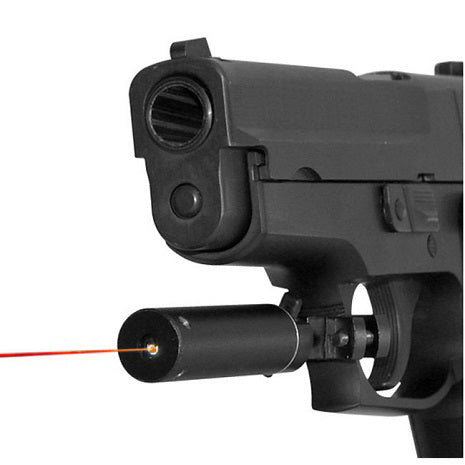 Red laser sight with trigger guard mount