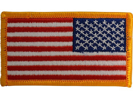 US flag velcro patch (yellow borders) reversed