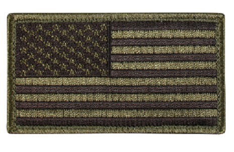 Green US flag velcro patch