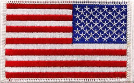 US flag patch reversed