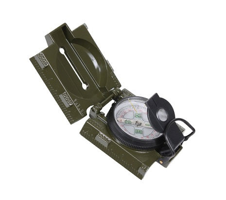 Military compass with red light