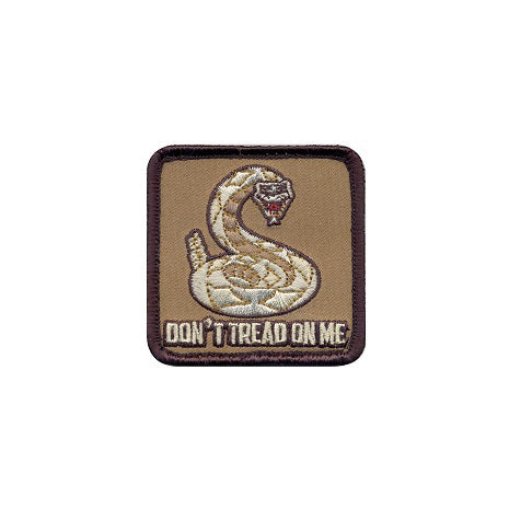 """Don't tread on me"" velcro patch"
