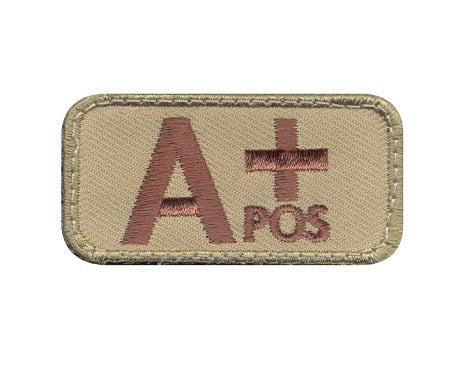 A positive blood type velcro patch