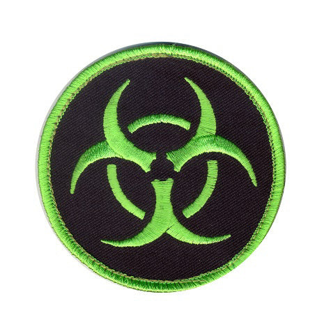 Biohazard velcro patch