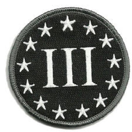 3% round velcro patch