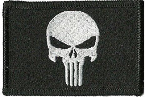 Black Punisher velcro patch