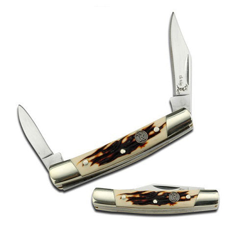 Mini ivory folding pocket knife