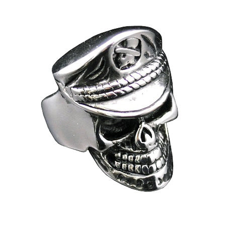 SKELETON SAILOR RING STAINLESS STEEL