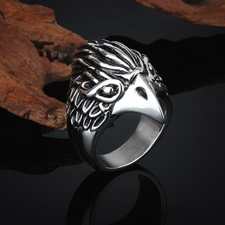 NS RING NAVY EAGLE HEAD STAINLESS STEEL