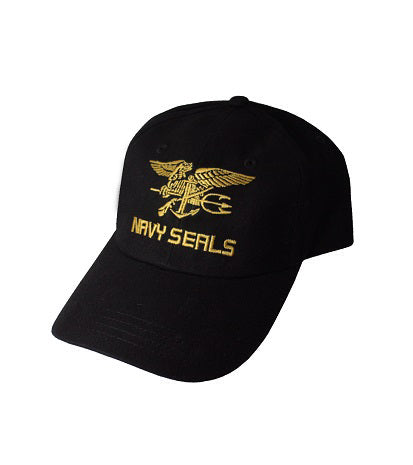 NAVY SEALS CAP LOW PROFILE GOLD ON BLACK