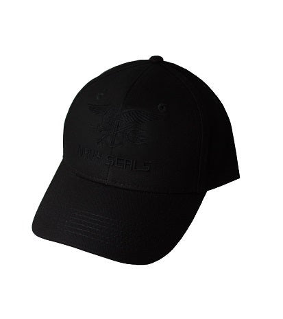 NAVY SEALS CAP LOW PROFIE BLACK ON BLACK