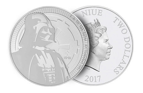 Star Wars Darth Vador Silver Coin