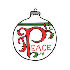 Peace Ornament Rubber Stamp