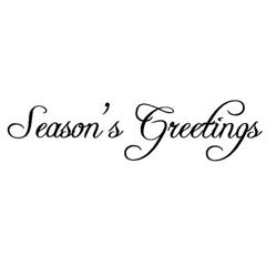 Seasons Greetings Rubber Stamp