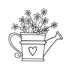 Watering Can of Flowers
