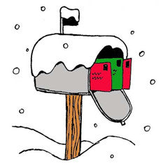 Winter Mailbox Rubber Stamp